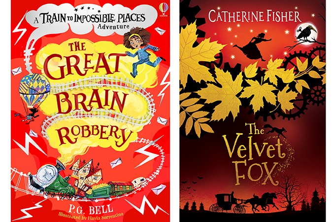 The covers of The Great Brain Robbery and The Velvet Fox